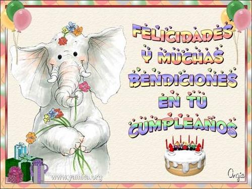 Felicidades y muchas bendiciones en tu cumpleaños