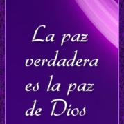 La paz verdadera es la paz de Dios