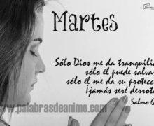 Martes  Sólo Dios me da tranquilidad, sólo él puede salvarme