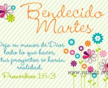 Bendecido Martes / Deja en manos de Dios todo lo que haces