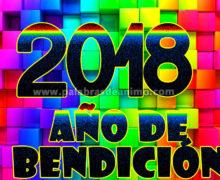 2018 año de bendición